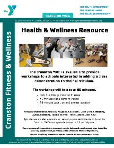 Health and wellness flyer - Ymca