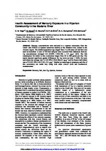 Health Assessment of Mercury Exposure in a Riparian Community in ...