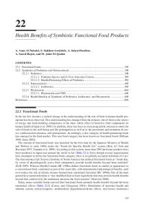Health Benefits of Symbiotic Functional Food Products
