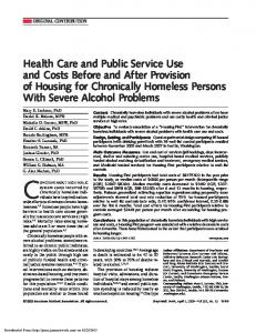 Health Care and Public Service Use and Costs Before