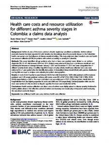 Health care costs and resource utilization for different asthma severity