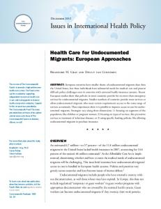 Health Care for Undocumented Migrants - Commonwealth Fund