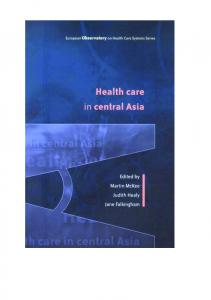 Health care in central Asia - WHO/Europe - World Health Organization