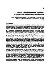 Health Care Information Systems: Architectural Models and ...