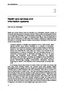 Health Care Services and Information Systems