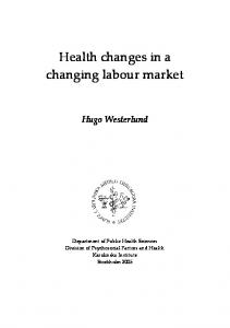 Health Changes in a Changing Labour Market - KI Open Archive