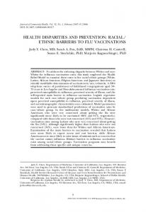 health disparities and prevention: racial/ ethnic barriers to ... - CiteSeerX