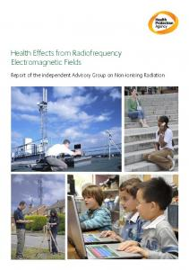 Health Effects from Radiofrequency Electromagnetic Fields