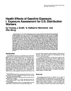 Health Effects of Gasoline Exposure. I. Exposure ... - CiteSeerX