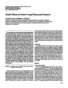 Health Effects of Indoor Fungal Bioaerosol Exposure
