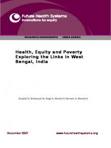 Health, Equity and Poverty:Exploring the Links in West Bengal, India