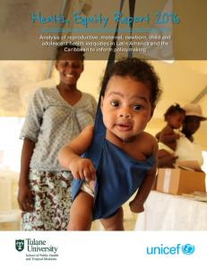 Health Equity Report 2016 - Unicef