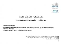 Health for Health Professionals Enhanced Competencies for ...