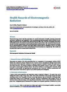 Health Hazards of Electromagnetic Radiation - Scientific Research ...