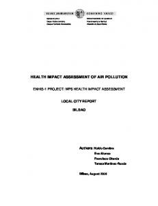 health impact assessment of air pollution