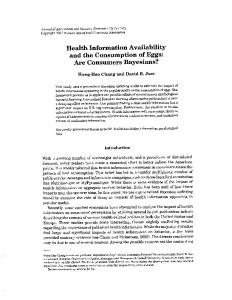 Health Information Availability - AgEcon Search
