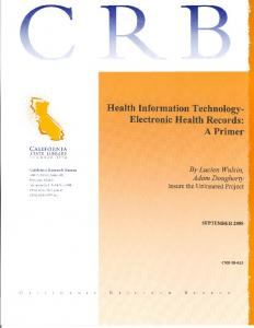 Health Information Technology Report