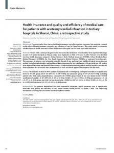 Health insurance and quality and efficiency of medical ... - The Lancet