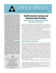 Health Insurance Coverage and Reimbursement Decisions