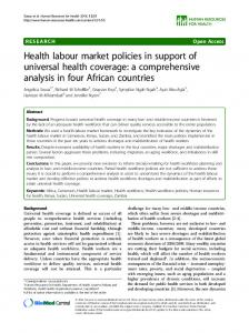 Health labour market policies in support of universal health coverage ...