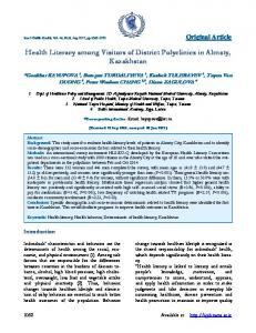 Health Literacy among Visitors of District Polyclinics in Almaty ...