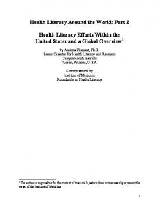 Health Literacy Around the World Pt 2 - Canyon Ranch Institute