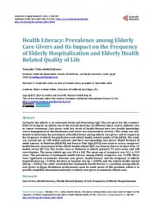 Health Literacy - Scientific Research Publishing