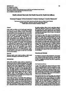Health-oriented Electronic Oral Health Record for