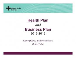 Health Plan and Business Plan PowerPoint