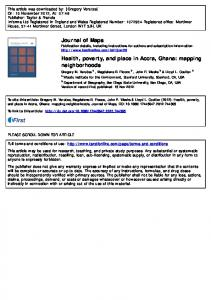 Health, poverty, and place in Accra, Ghana ... - SDSU Geography