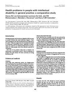 Health problems in people with intellectual disability ... - Oxford Journals