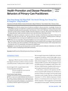 Health-Promotion and Disease-Prevention Behaviors ...
