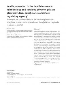 Health promotion in the health insurance: relationships and ... - SciELO