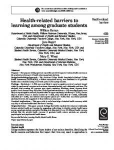 Health-related barriers to learning among graduate students