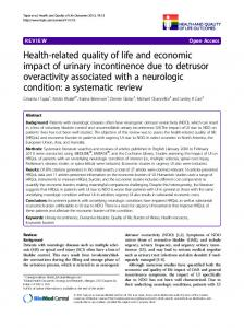 Health-related quality of life and economic impact