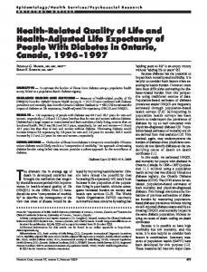Health-Related Quality of Life and Health-Adjusted Life ... - EurOhex