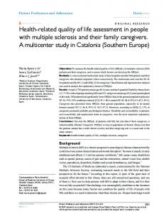 health-related quality of life assessment in people ... - Semantic Scholar