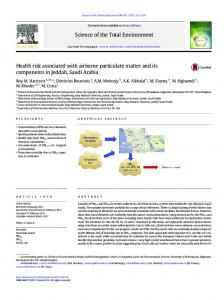 Health risk associated with airborne particulate matter