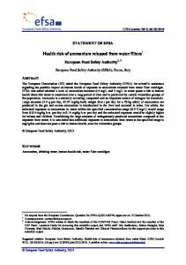 Health risk of ammonium released from water ... - Wiley Online Library
