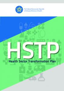 Health Sector Transformation Plan - Ministry of Health