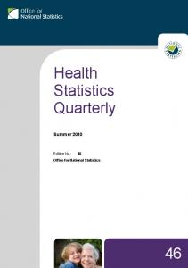 Health Statistics Quarterly - Office for National Statistics