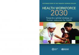 health workforce - World Health Organization