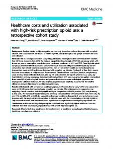Healthcare costs and utilization associated with high ... - BMC Medicine