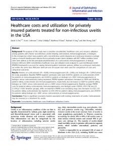 Healthcare costs and utilization for privately insured patients treated ...
