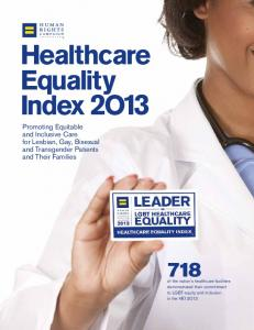 healthcare Equality Index 2O13 - Human Rights Campaign