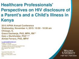 Healthcare Professionals' Perspectives on HIV ...