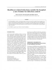 Healthcare-related infections outside the ... - New Microbiologica