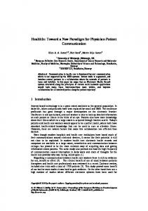 HealthIn: Toward a New Paradigm for Physician-Patient Communication