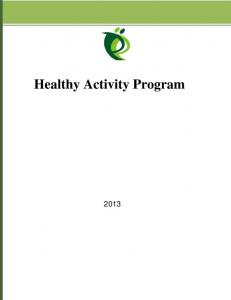 Healthy Activity Program - PLOS