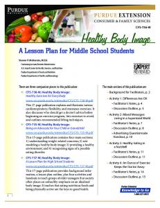 Healthy Body Image: A Lesson Plan for Middle School Students